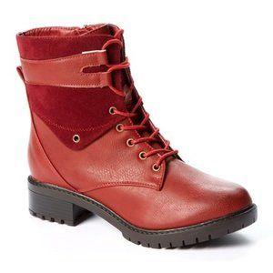 Deep Red Oskar Ankle Boot